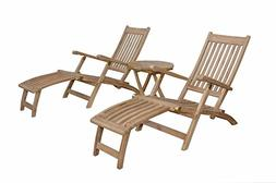 Anderson Teak Tropicana Montage Steamer Set Without Cushion