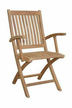 Anderson Teak Tropico Folding Patio Dining Chair in Natural