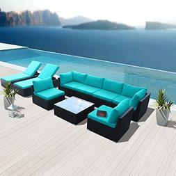 Modenzi 9G-U Outdoor Sectional Patio Furniture Espresso Brow