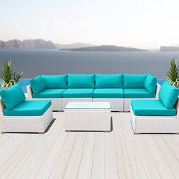 Modenzi 7G-U Outdoor Sectional Patio Furniture Espresso Brow