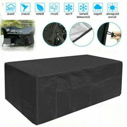 Waterproof Patio Furniture Cover Rectangular Outdoor Garden