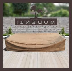 Modenzi All-Weather wicker rattan Patio Furniture COVER set