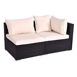 Tangkula Outdoor Wicker Furniture Set Infinitely Combination