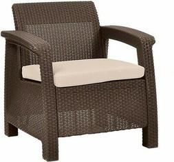 Wicker Patio Arm Chair Outdoor Garden Resin Rattan Furniture