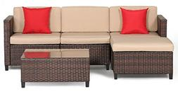 Outroad Wicker Patio Furniture Set Outdoor  - All Weather Br
