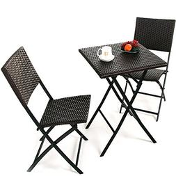 Grand patio Parma Rattan Patio Bistro Set, Weather Resistant