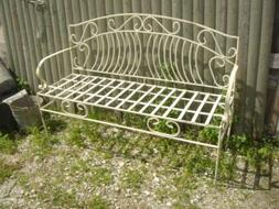 Wrought Iron Venetian Bench Metal Several colors Patio and D