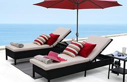 Baner Garden X15 Modern Outdoor Pool Patio Furniture Adjusta